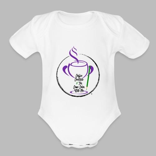 CCTCCWM Black Text - Organic Short Sleeve Baby Bodysuit