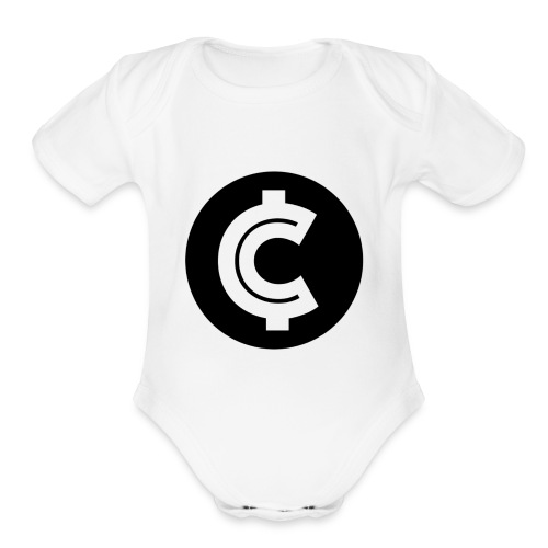 Crypto Coin RIch Logo - Organic Short Sleeve Baby Bodysuit