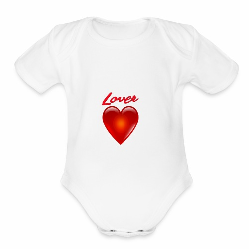 Lover - Organic Short Sleeve Baby Bodysuit