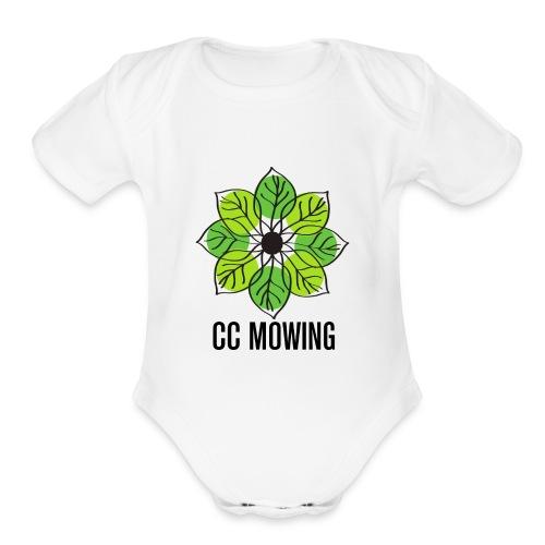 CC Mowing Logo - Organic Short Sleeve Baby Bodysuit