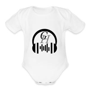GH headphone design - Short Sleeve Baby Bodysuit