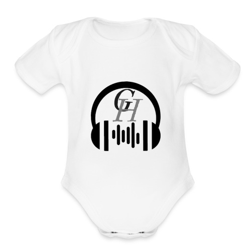 GH headphone design - Organic Short Sleeve Baby Bodysuit
