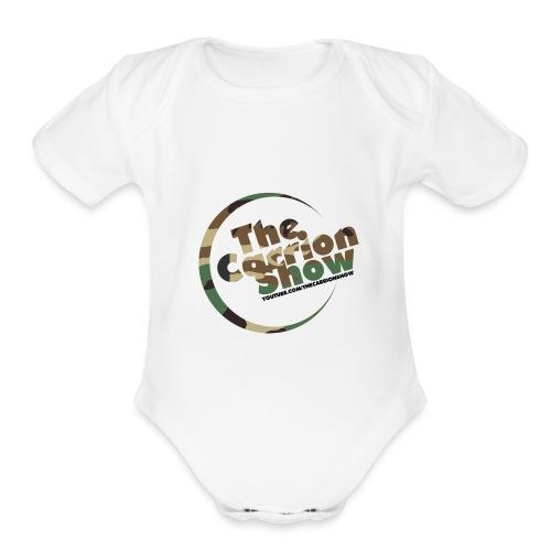 Camo logo Design - Organic Short Sleeve Baby Bodysuit
