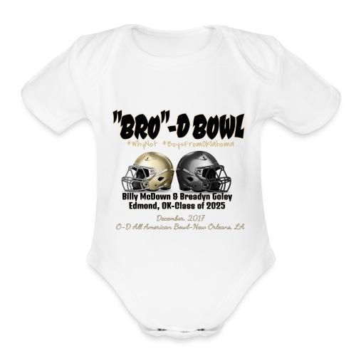 brodie bowl dark - Organic Short Sleeve Baby Bodysuit
