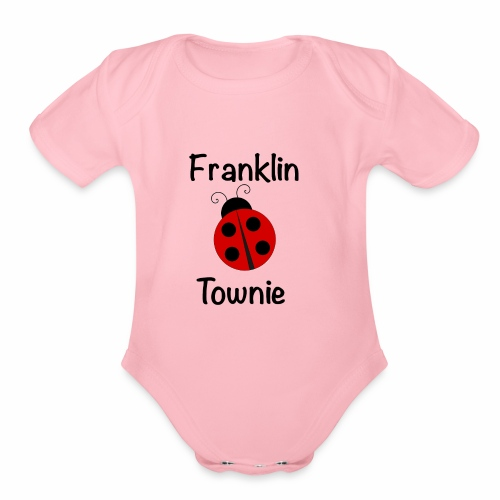 Franklin Townie Ladybug - Organic Short Sleeve Baby Bodysuit