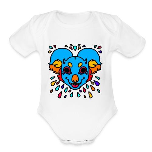 koala acid - Organic Short Sleeve Baby Bodysuit