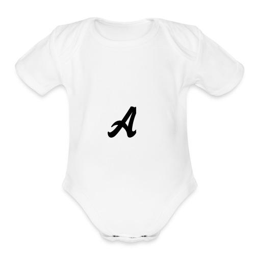A Logo - Organic Short Sleeve Baby Bodysuit