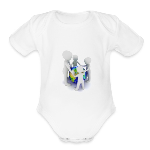 Save The Earth Presnt for all - Organic Short Sleeve Baby Bodysuit