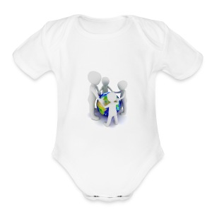 Save The Earth Presnt for all - Short Sleeve Baby Bodysuit