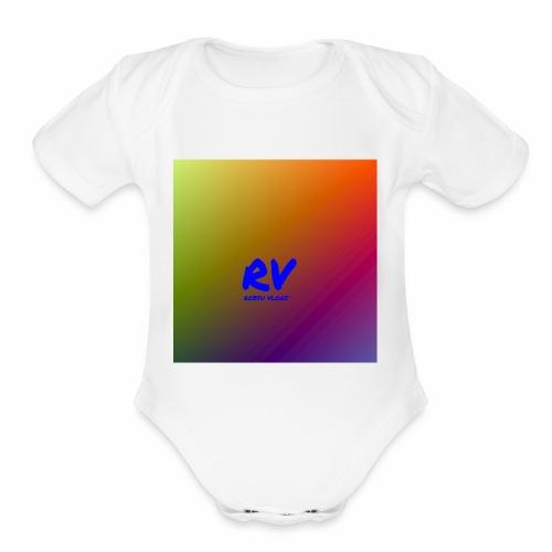 Robsu Vlogs shirt - Organic Short Sleeve Baby Bodysuit