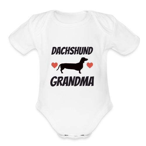 Dachshund Grandma - Organic Short Sleeve Baby Bodysuit