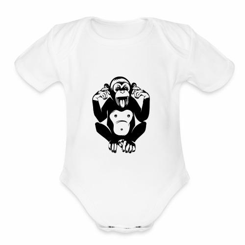 CheekyMonkey - Organic Short Sleeve Baby Bodysuit