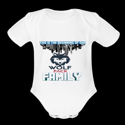 We Are Linked As One Big WolfPack Family - Organic Short Sleeve Baby Bodysuit