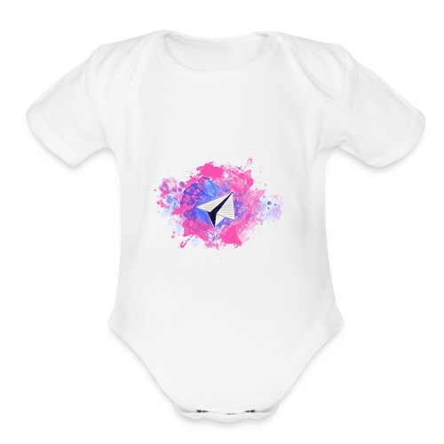 Paper Plane - Organic Short Sleeve Baby Bodysuit