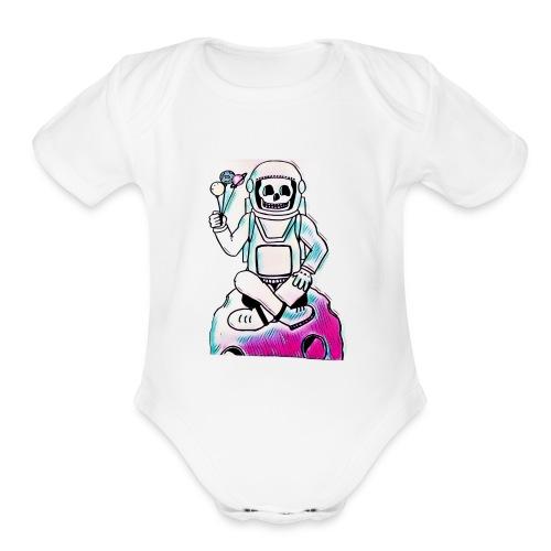 Astro Skull - Organic Short Sleeve Baby Bodysuit
