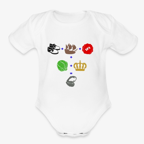 walrus and the carpenter - Organic Short Sleeve Baby Bodysuit