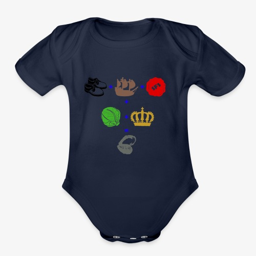 walrus and the carpenter - Organic Short Sleeve Baby Bodysuit