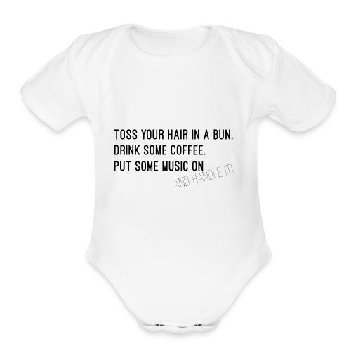 Toss It - Organic Short Sleeve Baby Bodysuit