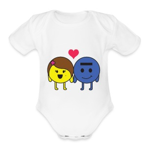 P and E love - Short Sleeve Baby Bodysuit