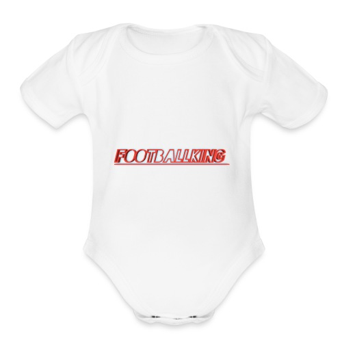 Footballking - Organic Short Sleeve Baby Bodysuit