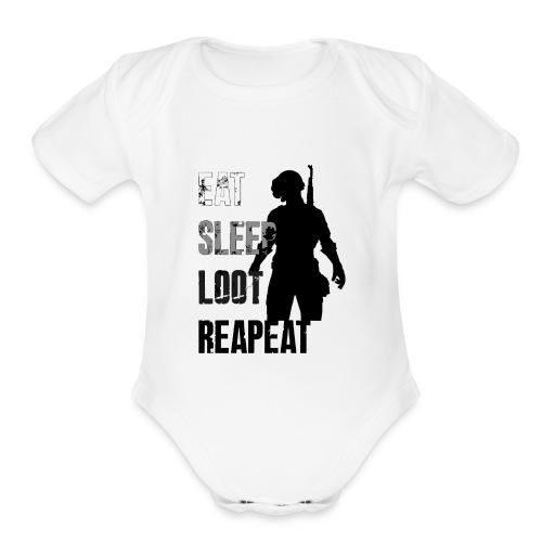 pubg - Organic Short Sleeve Baby Bodysuit