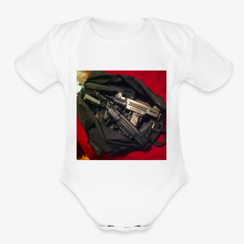 Gun Bag - Organic Short Sleeve Baby Bodysuit