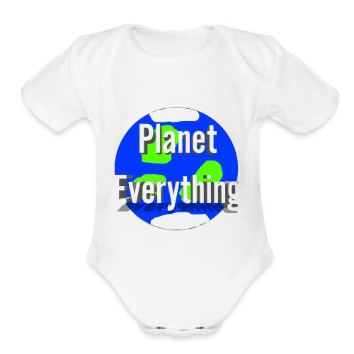 Planet Circle logo merchandise - Organic Short Sleeve Baby Bodysuit