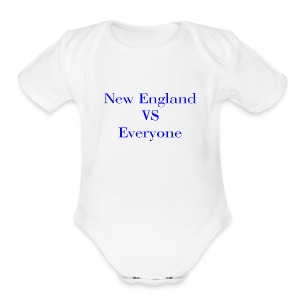 new england vs everyone light shirt - Short Sleeve Baby Bodysuit