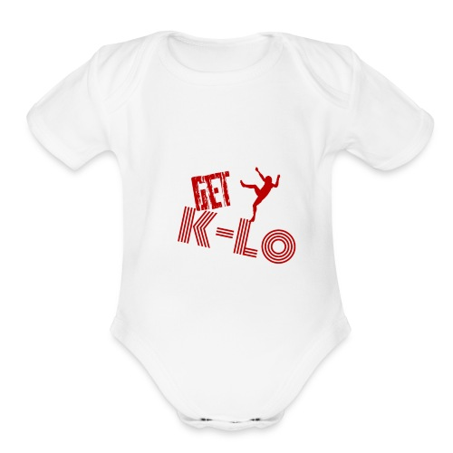 Red k lo - Organic Short Sleeve Baby Bodysuit
