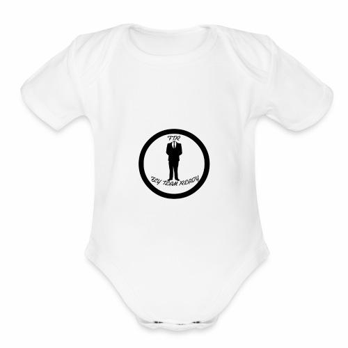 FLYTEAM LOGO - Organic Short Sleeve Baby Bodysuit