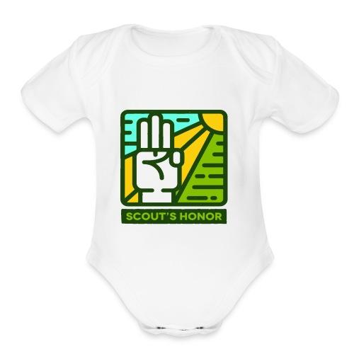 scouts honour - Organic Short Sleeve Baby Bodysuit