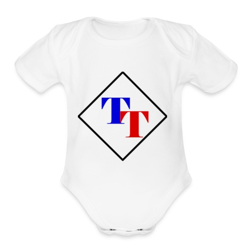 Black Diamond TaitorTot Logo - Organic Short Sleeve Baby Bodysuit