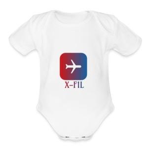 X-Fil Plane addition - Short Sleeve Baby Bodysuit
