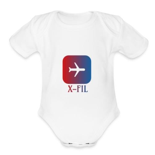 X-Fil Plane addition - Organic Short Sleeve Baby Bodysuit