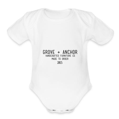 details - Organic Short Sleeve Baby Bodysuit