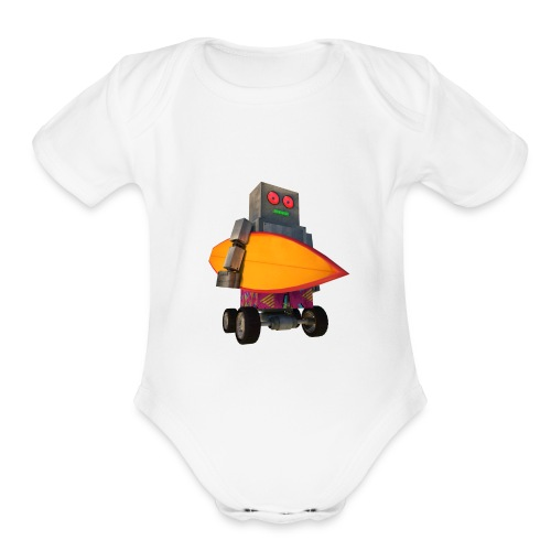 SURF, MACHINE - Organic Short Sleeve Baby Bodysuit
