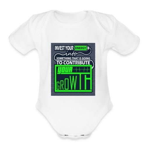 Energy Invest - Organic Short Sleeve Baby Bodysuit