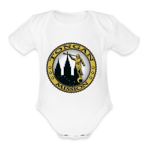 Tongan Mission - LDS Mission Classic Seal Gold - Short Sleeve Baby Bodysuit