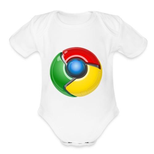 Google chrome logo - Organic Short Sleeve Baby Bodysuit