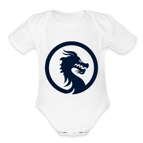 Dragon Logo PNG - Organic Short Sleeve Baby Bodysuit