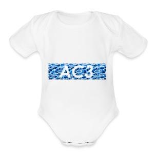 AC3 bape Supreme logo - Short Sleeve Baby Bodysuit