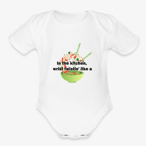 Migos Stir Fry - Organic Short Sleeve Baby Bodysuit