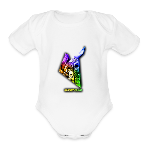 GhosT Clan Abstract Rainbow - Organic Short Sleeve Baby Bodysuit