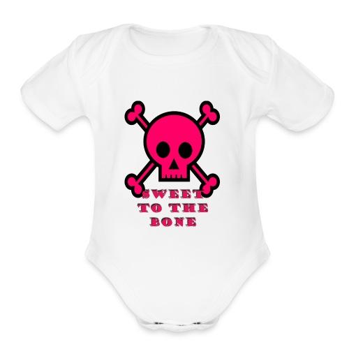 bone sweetness - Organic Short Sleeve Baby Bodysuit