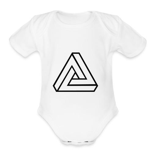 Lines - Organic Short Sleeve Baby Bodysuit