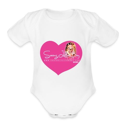 tshirt slb heart pic - Organic Short Sleeve Baby Bodysuit