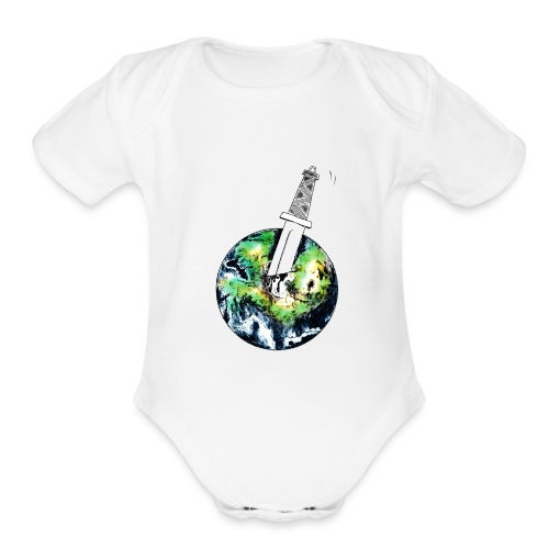 Oil Killer - Save planet - Organic Short Sleeve Baby Bodysuit