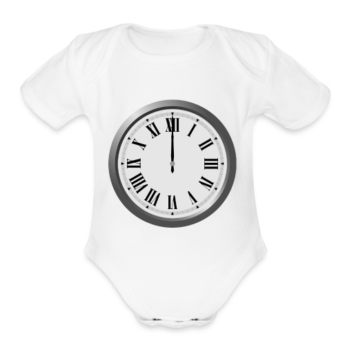 Time Flies When You Watch Team Google Plex - Organic Short Sleeve Baby Bodysuit