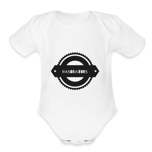 Gear logo - Organic Short Sleeve Baby Bodysuit