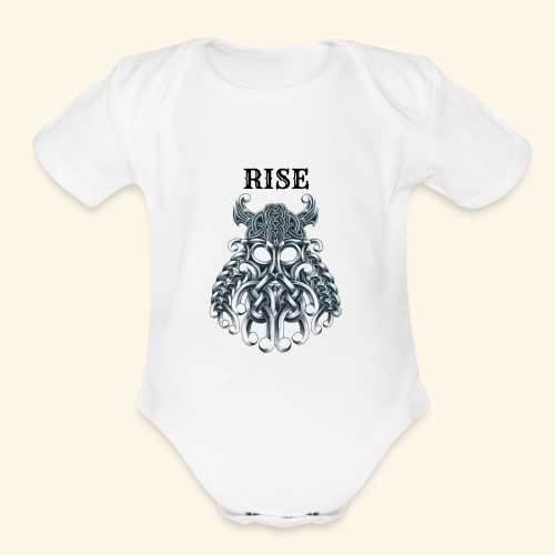 RISE CELTIC WARRIOR - Organic Short Sleeve Baby Bodysuit